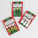 Bag Clips 3pk Holiday Shape** Tree/snowmn/santa 12pc Mdsgstrip Clipped Printed Christmas Card