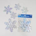 Cutouts Snowflakes Laser 10pc 4-9in W/hanging String Pbh