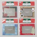 Photoframe 6pk Christmas Cards W/envelopes Holds 4x6 Photo 4ast Designs Christmas Pbh