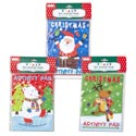 Color/activity Pads 6ct Holiday 3ast Christmas Pb/w Header Card