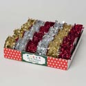 Garland Tinsel Roll Christmas 25ft/2 Styles Gold/silver/red 24 Pc Pdq