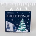 Icicle Fringe Glittered Felt White  8ftx7in Printed Polybag