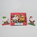 Christmas Character Mini Table Decor Mdf W/glitter 4ast/12pcpdq W/label