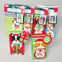 Pet Christmas Treat Boxes 4pk 4ast W/tag & Window 3dog/1cat On 12pc Mdsgstrip Xmas Pbh/pbslv