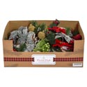 Pick Christmas Greenery Decor 9in 6ast/36pc Pdq Xmas Ht