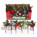 Pick Christmas Greenery Decor** 9in 6ast Styles In 36pc Pdq Christmas Ht