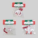 Photo Frame Ornament 3asst Style Ball/star/snoflake Clear Plastic W/red Velvet Hanger Ea/oppba