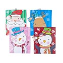 Gift Bag Large Christmas 4ast Christmas Jumbo Face Characters Glitter/pp Matching String/jhook