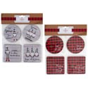 Coasters Paper 8pk Holiday * **novelty Fun Sayings 12pc Mdsg Strip/2 Asst/xmas Pbh
