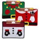 Placemat Felt Christmas Cute 13l X 17.5w 3ast Xmas Header W/cutlery/napkin Holding Gloves
