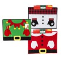 Placemat Felt Christmas Cute 13inlx17.5inw 3ast Xmas Headr Santa/snowman/elf W/gloves