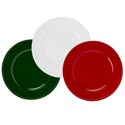 Charger 13in Plate Christmas Red/green/pearl White Plastic Upc Label