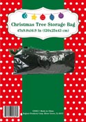 Christmas Tree Storage Bag Green Waterproof Pp Plastic 47 X 9.8 X 16.9in Peggable Pbhdr