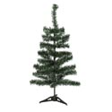 Christmas Tree Green W/white Tips (58) 23.6inh Plastic Base Christmas Ht/open Pb Sleeve