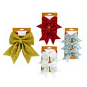Bow Christmas Sparkle Foam 4colors In 1-2-3pks Xm Tcd