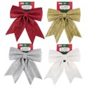Bow Christmas Sparkle Foam 11x12in 4 Colors Xm Tcd