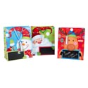 Gift Bag Large Christmas 3ast W/to/from Chalkboard Area W/chlk Ht/jhook