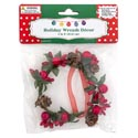 Wreath Ornament/candle Ring Package Decor 4in Dia 3ast Mdsg Strip
