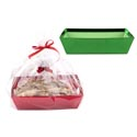 Bakery Gift Tray Set Christmas W/2 Ribbons & Bags 2asst Colors Christmas Upc Label/insert