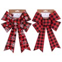 Bow 8x12 Buffalo Check 2ast Plain Or W/snowflake Xmas Tcd