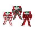 Basket Bow Fabric W/3ast Print Xmas Ribbon 7x10 Xm Tcd