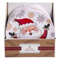 Dessert Plate 8in Christmas 4ast Melamine Cheering Characters Pdq 24pc Pdq Xmas 2019