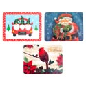 Placemat Plastic 3ast Christmas Prints 12x16 36pc Pdq/upc
