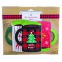 Gift Card Holder 6ct Novelty Xmas Mug Shape 3asst Designs 210g Blister Card
