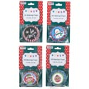 Baking Cups Christmas Prints 2in 4asst 50ct/12pc Mdsg Strip Xmas Foldover Hdr/pbh/pbslve