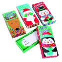 Gift Card Holder Box 4asst Christmas Characters Xmas Label 3 X 6.625 X 1in