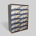 Aluminum Wrapp-its Pop-up Foil Sheets 25ct In 96pc Floor Disp 12x10.75 In Clr Box Made In Usa