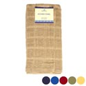 Kitchen Towel 15inx25in 100% Cotton 6 Asstd Solid Colors Camel,blk,yellow,blue,olive,red