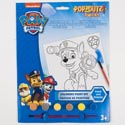 Paint Kit Paw Patrol Coloring Board, 6 Paints,1brush