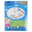 Paint Kit Peppa Pig Coloring Board,6 Paints,1 Brush