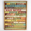 Wall Decor Dog Rules 16.5x20.75 Wooden (28.50)