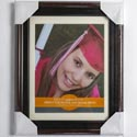 Photo Frame Document 8.5x11 Mahogany & Black Finish Easel #vl1013