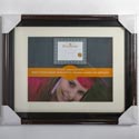 Photo Frame Document 11x14 Matted 8.5x11 2 Tone Wall Mount #vl1024