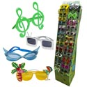Party Glasses W/rack  144 Pcs 12 Asstd Styles