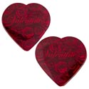 Valentine Candy Chocolate Heart Valentine Red Wrap 2 Oz Pdq
