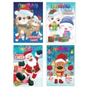 Christmas Coloring Book 112pg Foil Stamped 20pc Pdq 4 Assorted