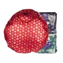 Wreath 36in Storage Bag Grn Foil Expandable Joy Mangano *43.99*