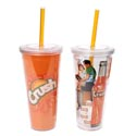 Tumbler 20 Oz Crush W/straw Double Insulated 6pc Shelf*9.99* Display 2 Assorted See N2