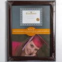 Photo Frame Document 8.5x11 Mahogany & Black Finish