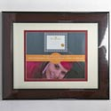 Photo Frame Document 11x14 Matted 8.5x11 Burgundy Finish